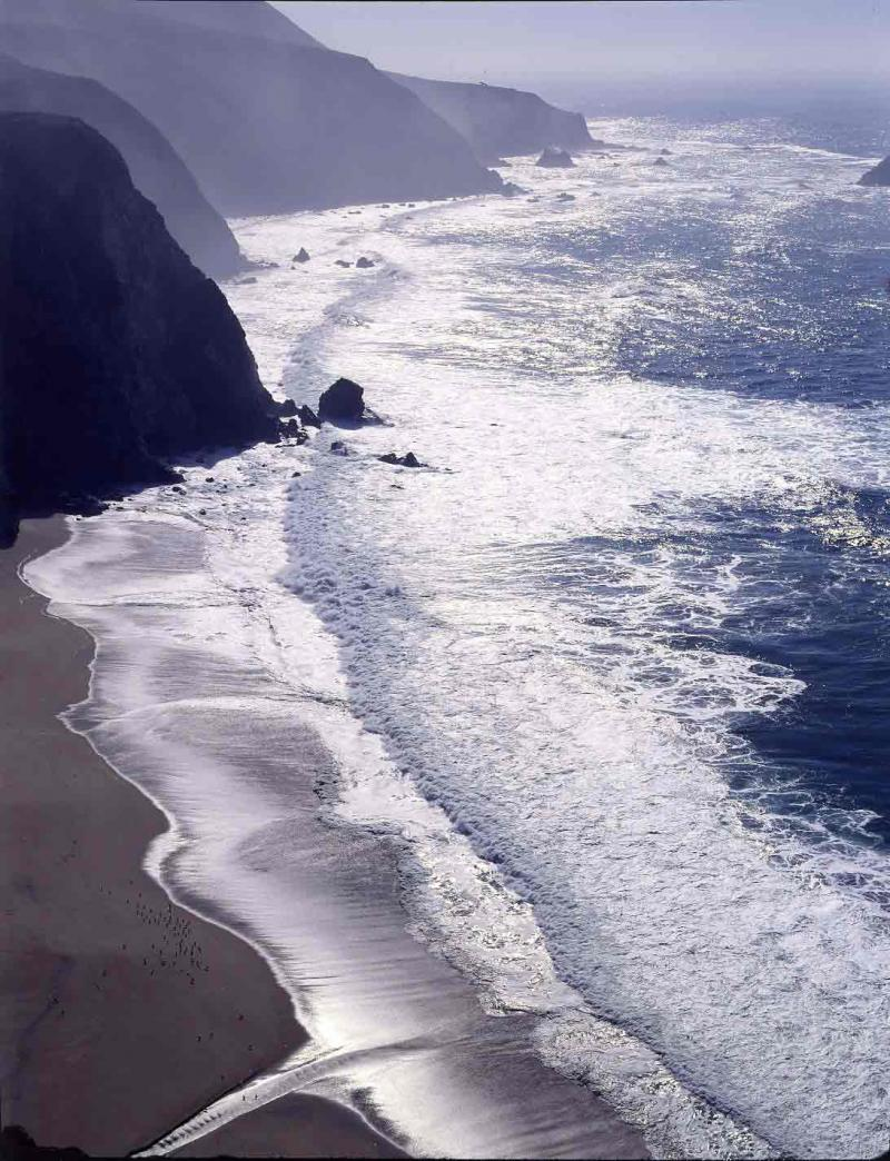 Big Sur Coast, south across Bixby Bridge, 1983